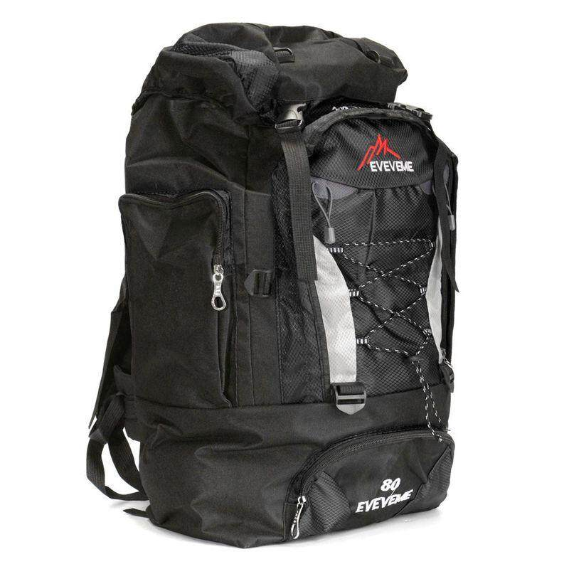 Travel BackpackExtra Large Rucksack for Hiking Outdoor Camping Black Hiking Day Packs Camping & Hiking Equipment