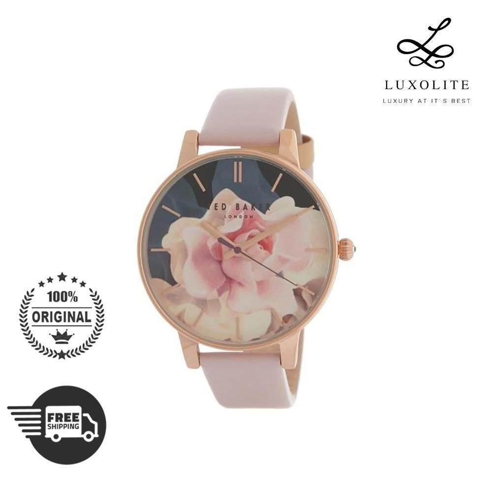 ffab0aa8cea6 Ted Baker Women s Floral Print Dial Leather Strap Watch TE50494005 (1 YEAR  WARRANTY)
