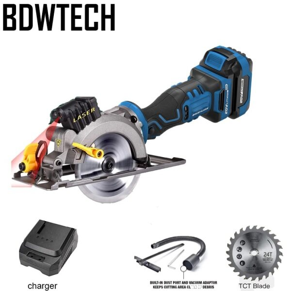 BDWTECH BT526 Mini portable 20V Electric cordless circular saw with lase function and Wood saw blade