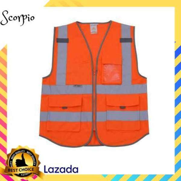 BEST SELLER SFVest High Visibility Reflective Safety Vest (Orange)