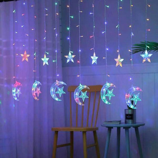 Led Light string Ramadan Festival Bright Stars Curtain Lights Decorative
