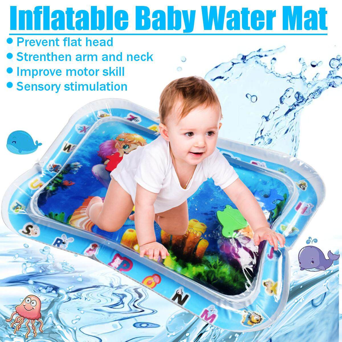 Air Tikar Bermain Inflatable Bayi Balita Menyenangkan Perut Waktu Aktivitas Pusat By Freebang.