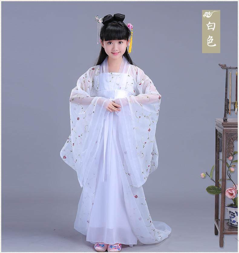 Giá bán Trẻ em Vintage Cổ Trang Phục Bé Gái phong cách Trung Hoa Hanfu Guzheng Hiệu Suất Trẻ Em Bé Gái Đầm Bộ Trang Phục Công Chúa Chương Trình Mùa Hè