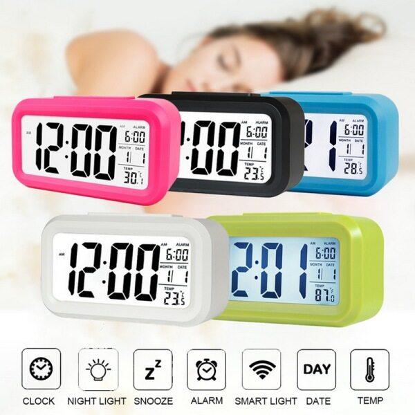 【Alarm Clock】LED Kỹ Thuật Số Hiển Thị Lớn, Với Lịch, Đối Với Trang Chủ Văn Phòng Du Lịch 1Pcs bán chạy
