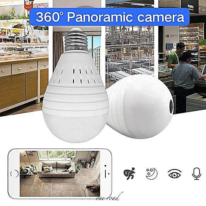 Mini Camera 1080P Bulb Light Wireless Ip Camera 360 Degree Panoramic Fisheye Security Cctv Camera Wifi P2P Motion Detection Camera Ip