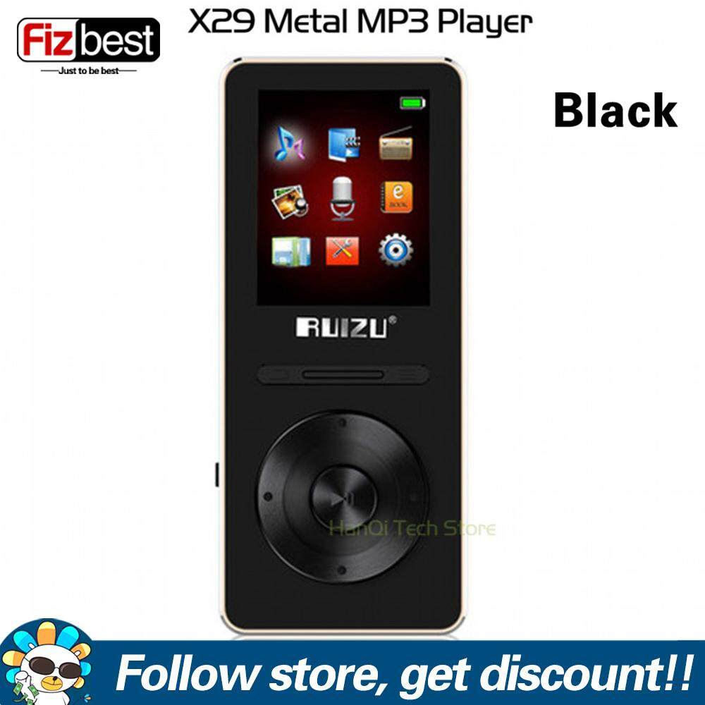 Original RUIZU X29 Aluminum Alloy Ultrathin Mp3 player 8GB Music Player With 1.8 Inch Screen Support FM Radio E-book Voice Recorder Portable Audio Player