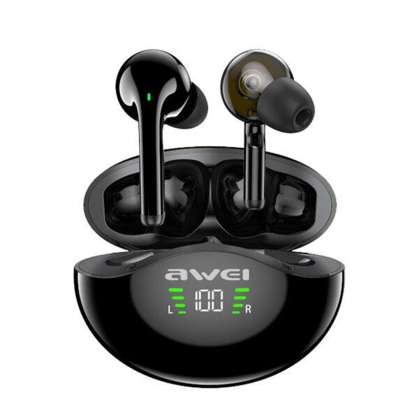AWEI T12P Wireless In Ear Earbuds Dual Dynamic Driver TWS Earphones w/ Mic Singapore