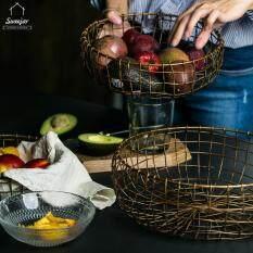 Sweetjar Kim Loại Lưu Trữ Giỏ Trái Cây Snack Giỏ Nhà Bếp Phòng Ngủ Đồ Ăn Vặt Đồ Ăn Nhẹ Giỏ Xếp Đồ Kiểu Bắc Âu