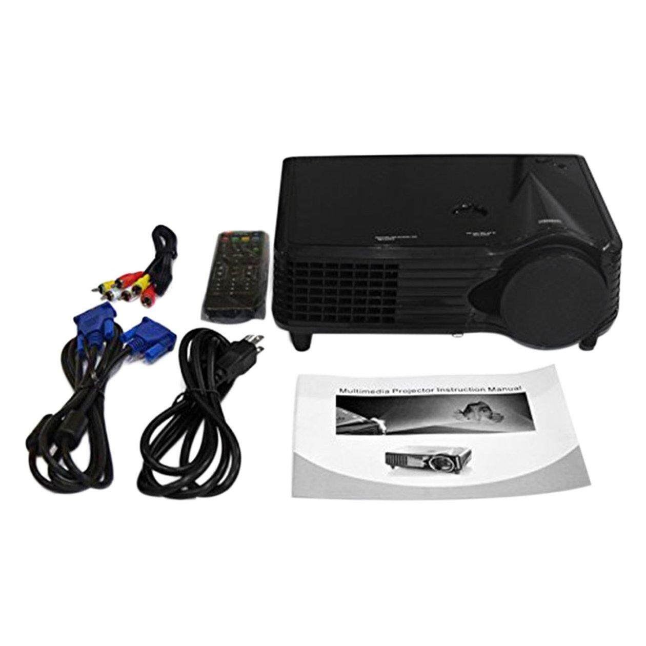 Top Deals Portable LCD LED Projector 800*480 2000 Lumen HD Home Theater HDMI VGA AV USB