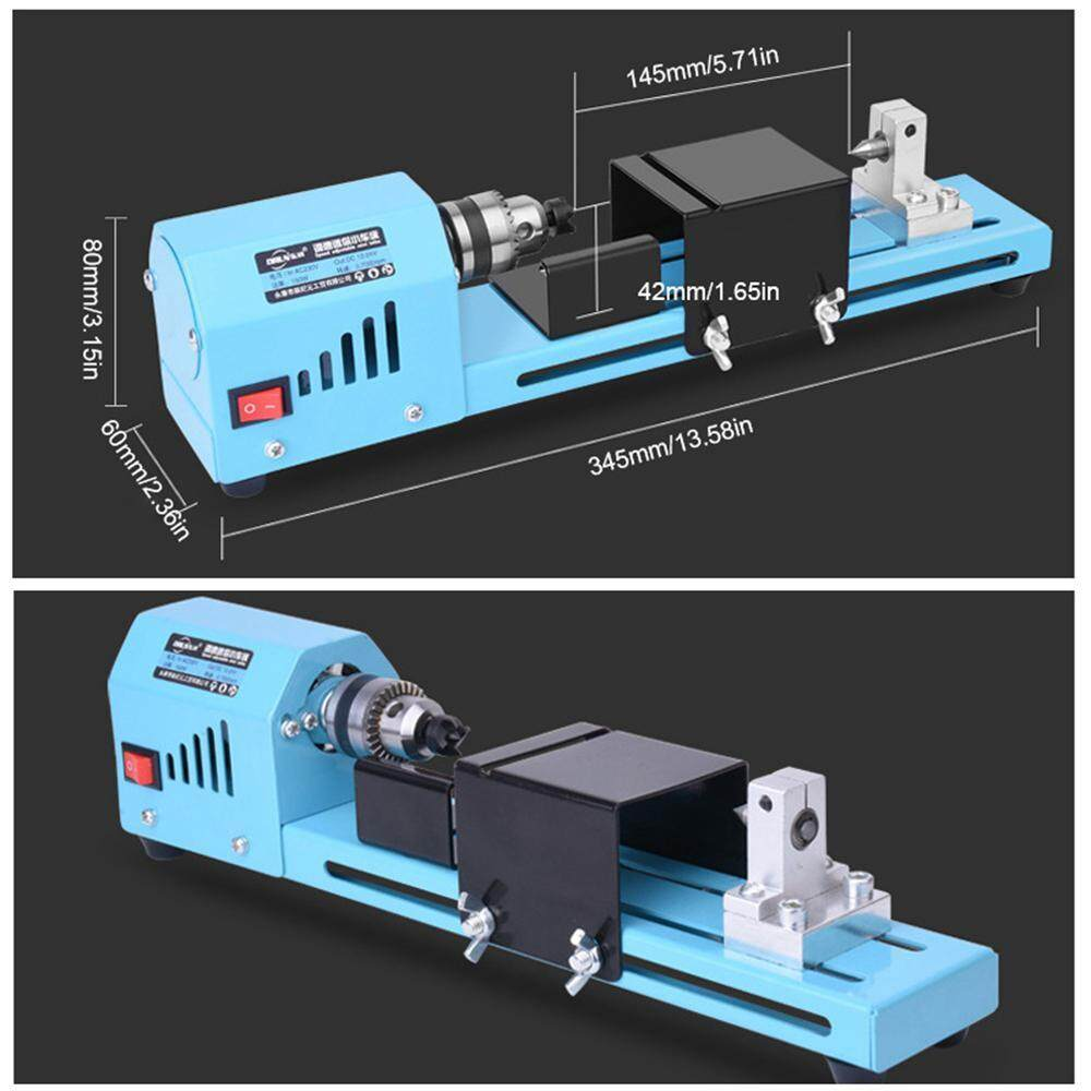 GoodGreat Adjustable Speed Low Noise 7000RPM 12-24VDC Mini Lathe Beads Machine Woodworking DIY Lathe Standard Set For Car Grinding Cutting Polishing Carving.