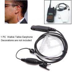 Radio Hai Chiều Truyền Âm Dạng Ống Phụ Kiện Bộ Đàm Di Động Tai Nghe Covert PTT Microphone Nghe An Ninh Không Thấm Nước Cho Baofeng UV-9R