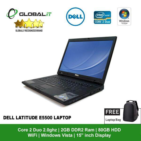 (Refurbished Notebook) Dell Latitude E5500 Laptop / 15.4 inch Screen / Intel Core 2 Duo / 80GB Hard Disk / 2GB DDR2 Ram / DVD / WiFi / Windows Vista Malaysia