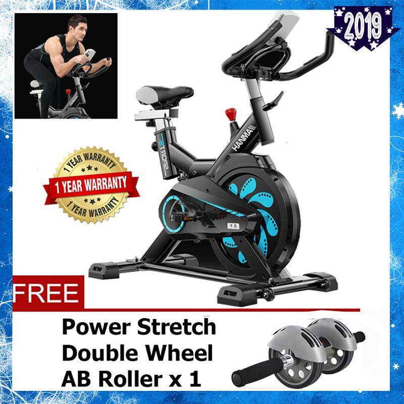 HANMA Black Flower Stainless Steel Dynamic Wheel Bicycle Spring Exercise Bike For Indoor Cycle Trainer &