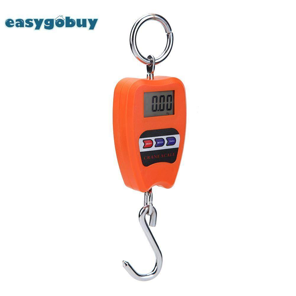 [easygoingbuy]200kg/50g Electronic Baggage Scale Mini Hook Scale Luggage Weighing Tool