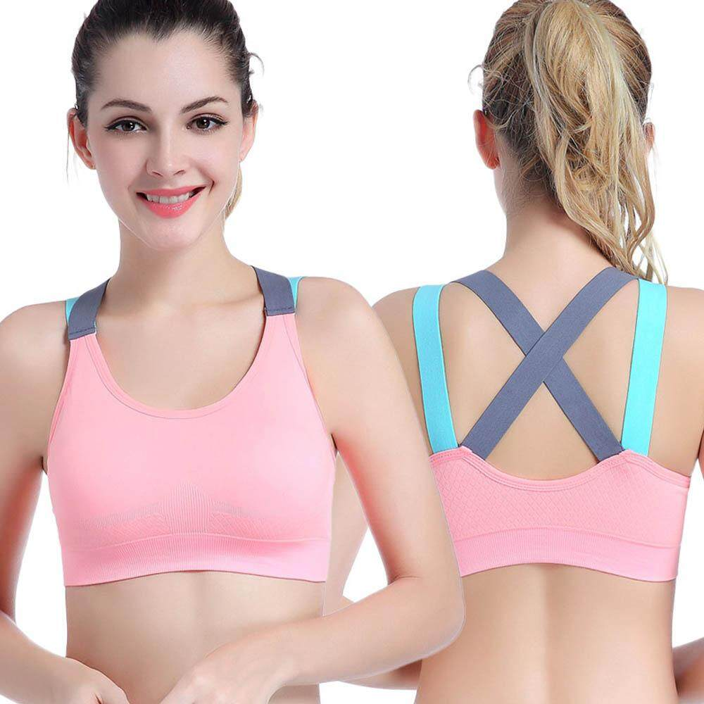 35e6b64fb0c6 [JYA store]Sexy Sports Bra Top for Fitness Women Push Up Cross Straps Yoga
