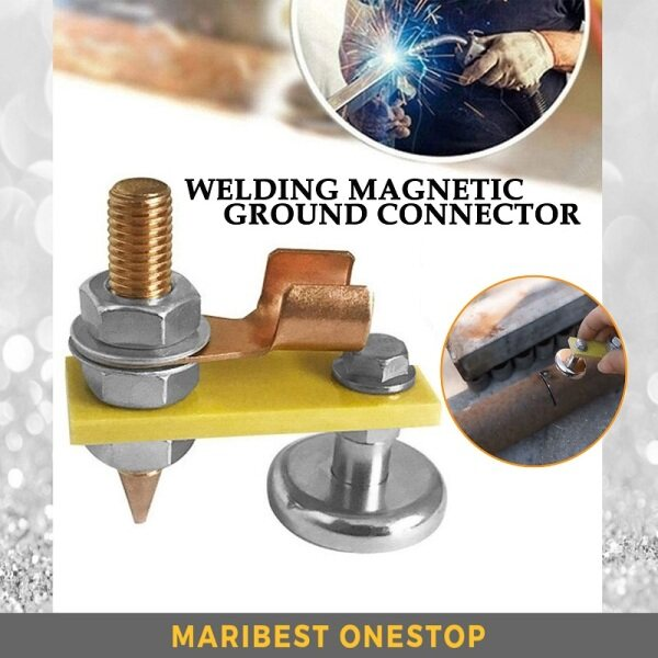 Welding Head Strong Second Generation Magnetic Ground Connector Welding Earth Clamp Tool Magnetic Car Spotter