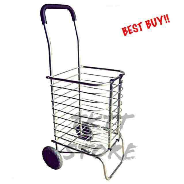 68bbd39c0486 TKTT Aluminium Alloy 2 Casters Multi Functional Foldable Shopping Trolley/  Market Cart/ Shopping Cart/ Grocery Cart/ Portable Trolley/ Multi Purpose  ...