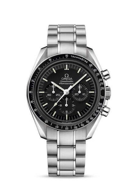 OM Factory Omeega Speedmaster Moonwatch Professional Chronograph 311.30.42.30.01.005 SS Black Dial Swiss 1861 Malaysia