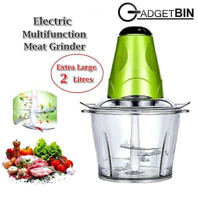 Gadgetbin Powerful Multipurpose Electric Meat Grinder Mincer Chopper 2l By Gadgetbin.