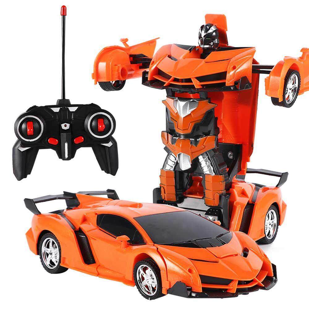 Buyinbulk Transform Rc Car Robot, Toys Transformers Robot Wall Climbing Car 360° Rotating With One-Button Deformation Function And Led Lights Rc Cars Toy For Kids By Buyinbulk.