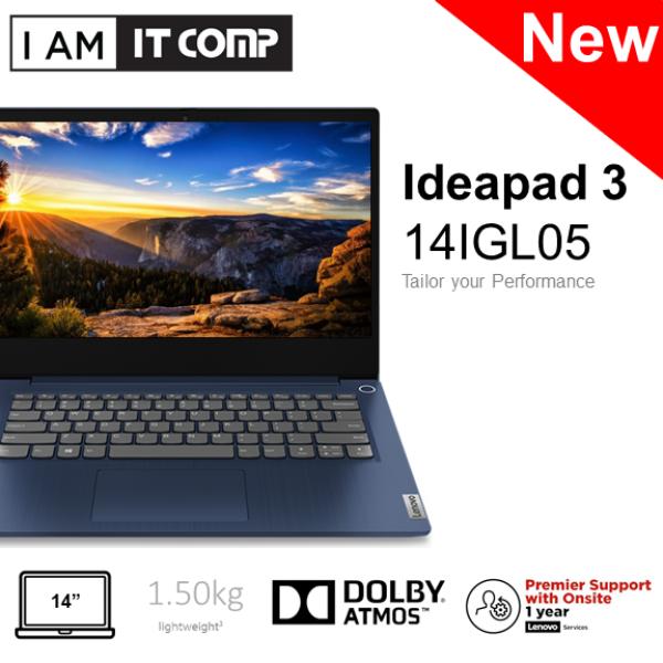 Lenovo Ideapad 3 14IGL05 81WH004VMJ / 81WH004WMJ 14 HD Laptop ( N4020/4GB/256GB SSD/INTEL/W10 ) FOC Wireless Mouse Malaysia