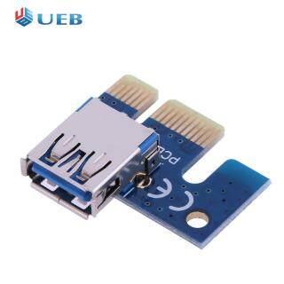 Bộ Chuyển Đổi PCI E 1X Màu Xanh Dương, Bộ Chuyển Đổi PCIe X1 Sang USB 3.0, Cho PCIe Riser Cryptocurrency KHAI THÁC MỎ thumbnail