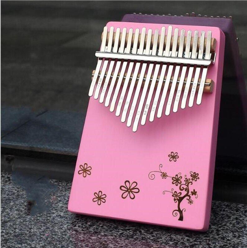 Portable Piano 17 Key Kalimba Thumb Piano By Veneer High Quality Wooden Mahogany Body Instrument Malaysia