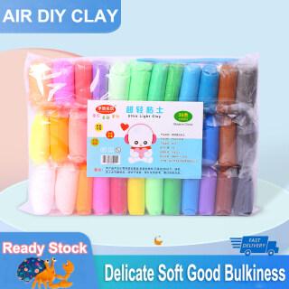 Đất sét khô không khí 12 24 36 Màu Đất sét siêu nhẹ Sáng tạo DIY Plasticine Magic Polymer Clay với dụng cụ và sách hướng dẫn thích hợp cho bé trai và bé gái trên 3 tuổi Sự lựa chọn hoàn hảo cho bữa tiệc và món quà thumbnail