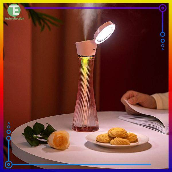 【Techcollection】Essential Oil Aromatherapy Diffuser Ultrasonic Air Humidifier with Colorful Lamp Home Appliances Singapore