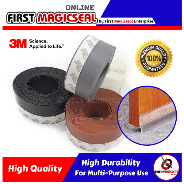 First MagicSeal - 35mm (5 Meter) 3M Self-Adhesive Rubber Silicone Door Seal Windows Seal Strip
