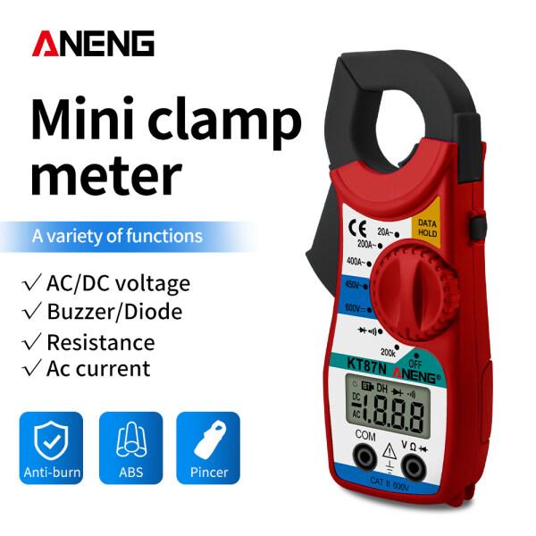 Aneng KT87N Mini Đồng Hồ Kẹp Kỹ Thuật Số AC/DC Điện Áp AC Hiện Tại 600 V Rms Thật Điện Dung Vạn Năng Điện Tester Megger