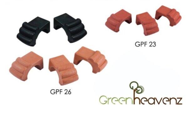 GHZ - GAFRI GPF23 GPF26 Gardening Plastic Flower Pot Feet ( Pack of 3 ) Kaki Pasu Bunga