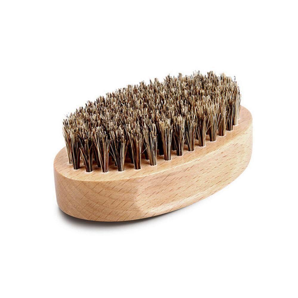 Nicetoempty Boar Bristle Men Shaving Brush Plastic Portable Barber Beard Brushes Salon Face Cleaning Razor Brush By Nicetoempty.