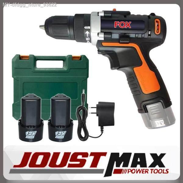 FOX GSA-12-2LI Double Speed Cordless Drill Screwdriver with 2pcs 12V Lithium Battery Tool Set