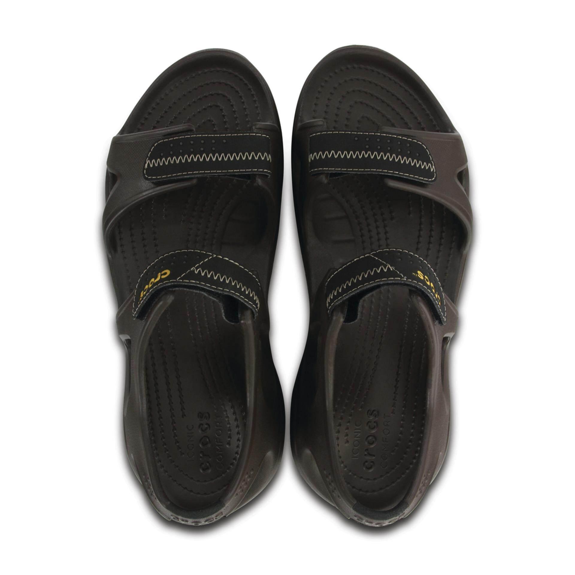 1233f182b1c0 Crocs Men s Swiftwater River Sandals Blk Blk