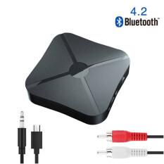 Bộ Thu Và Phát Bluetooth 4.2 Bộ Chuyển Đổi Âm Thanh Không Dây Âm Thanh Nổi Bộ Chuyển Đổi Không Dây RCA Jack 3.5MM Cho Loa T V Xe Hơi PC