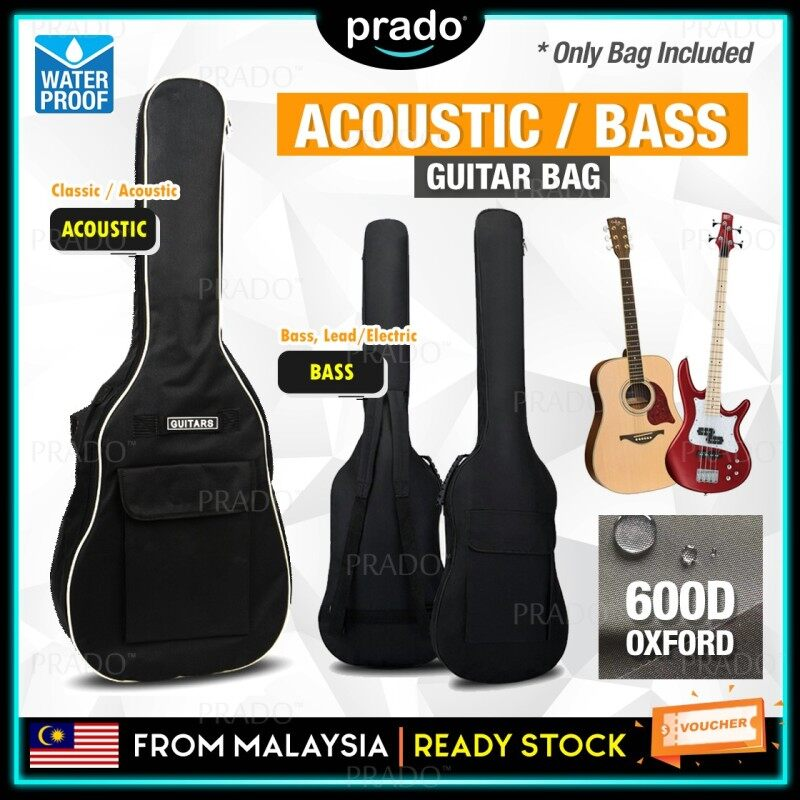 PRADO Malaysia Waterproof Guitar Bag Double Straps Thick Backpack Acoustic Bass Electric Pad Oxford Soft Case 40/41 Inch Beg Malaysia