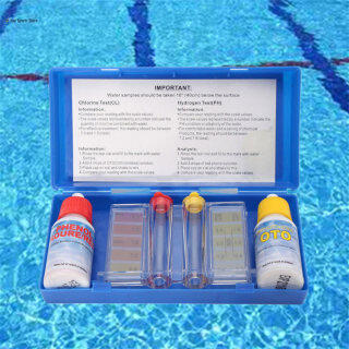 Bộ Dụng Cụ Kiểm Tra Chất Lượng Nước Ai Mai, 1 Bộ Phụ Kiện Đo Độ PH Clo Trong Nước Hồ Bơi thumbnail