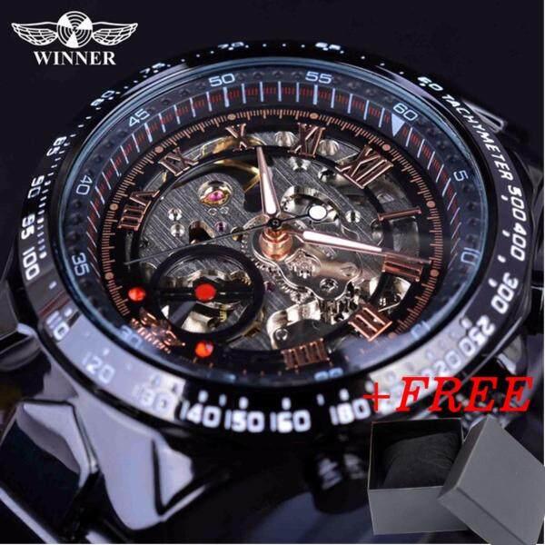Winner New Number Sport Design Bezel Golden Watch Mens Watches Top Brand Luxury Montre Homme Clock Men Automatic Skeleton Watch Malaysia