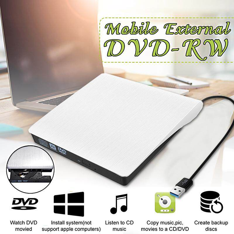 2MB Slim External USB 3.0 DVD/CD RW Writer Drive Portable ROM Drive Writer Burner for Notebook PC Desktop Computer