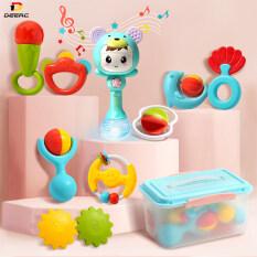 DEERC Đồ chơi lục lạc cầm tay có nhạc kiểu dáng dễ thương, chất liệu cao su mềm không độc hại, đồ chơi giáo dục thông minh dành cho bé trai và bé gái – INTL