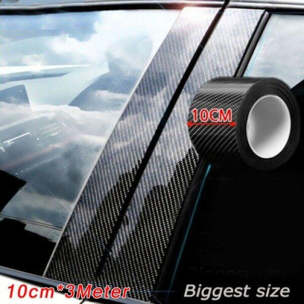 Dải Chống Va Chạm Cửa Xe Ô Tô, Dải Ngưỡng Cửa Miếng Dán Chống Bước 5d Bằng Sợi Carbon Dải Bảo Vệ 10Cm * 3M
