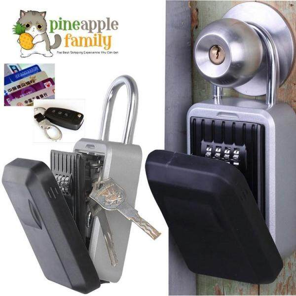 4 Digit Outdoor High Security Wall Mounted Key Safe Box Code Safty Lock-Storage