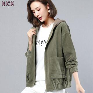 NICK Áo Khoác Nữ Phong Cách Hàn Quốc Vải To Sợi Lỏng Lẻo Áo Khoác Ngắn thumbnail