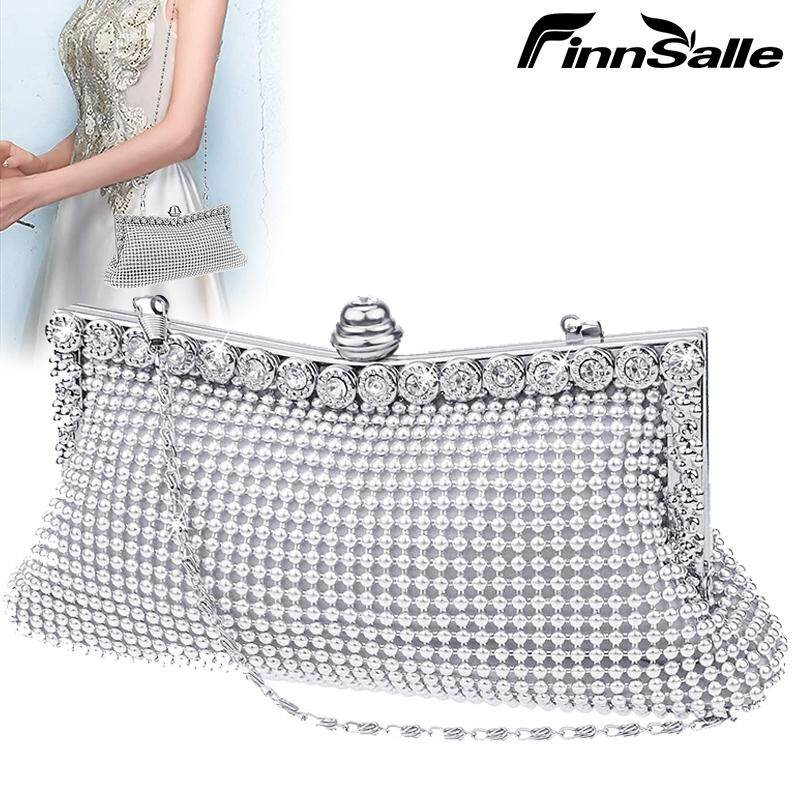 FinnSalle Crystal Clutch Sparkly Purse Evening Party Wedding Handbag for Womens and Ladies
