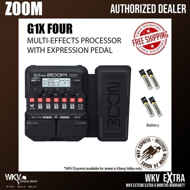 Zoom G1X FOUR Multi-effects Processor with Expression Pedal (G1XFOUR) Malaysia