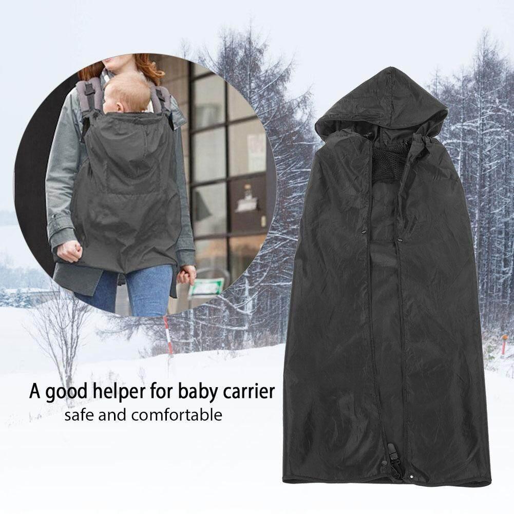 กันน้ำกระเป๋าอุ้มเด็ก Windproof เป้อุ้มเด็กอ่อนผ้าห่มเด็กอ่อนเสื้อคลุมสีดำ
