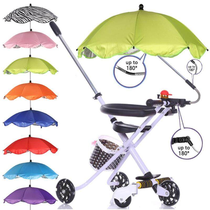 1* New Stroller Accessories Durable Kid Shade Canopy Covers Baby Sun Umbrella Parasol Buggy Pushchair Canopy Protect Singapore