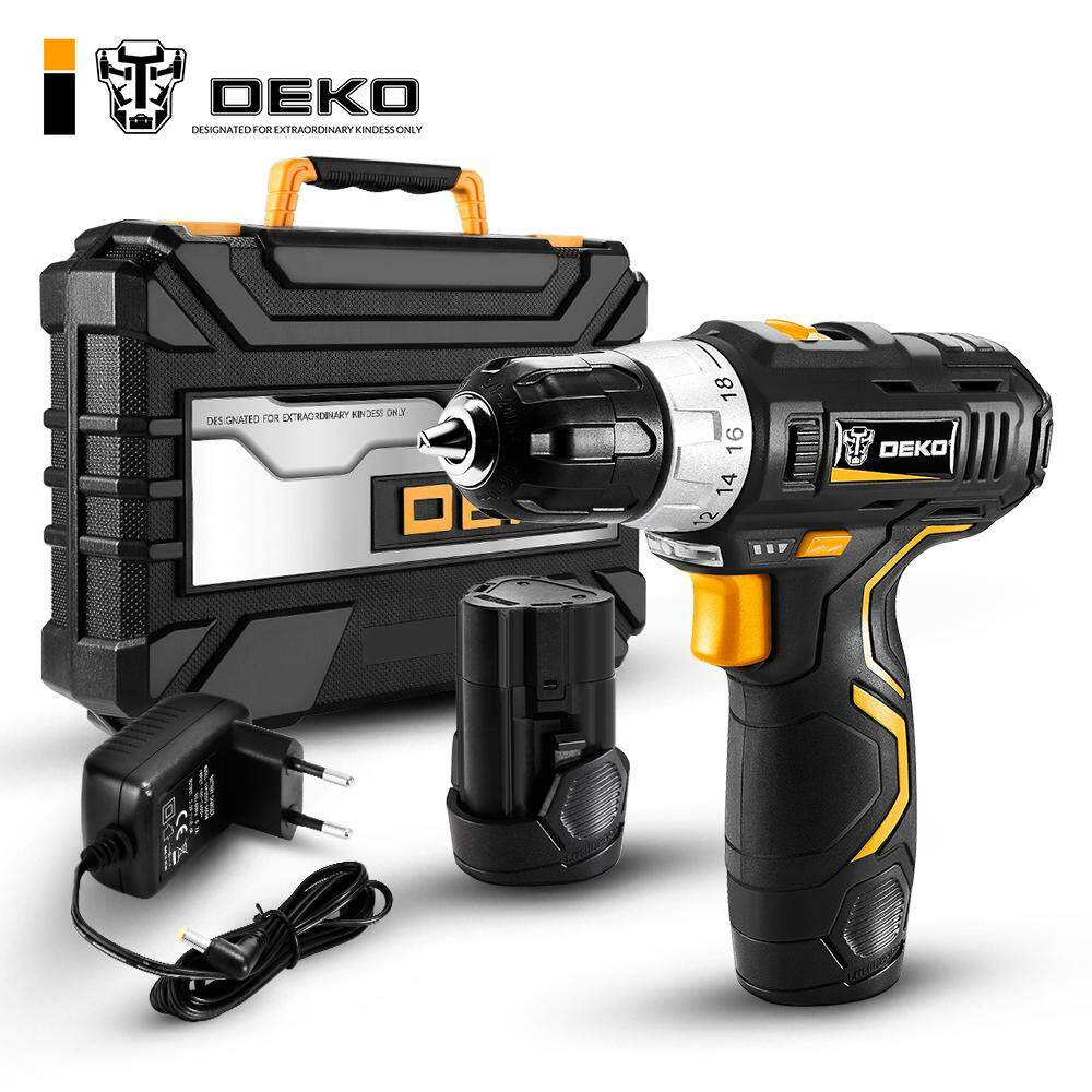 DEKO GCD12DU3 SET4 Hot Sale Electric Screwdriver Drill Cordless Multifunction Electric Drill