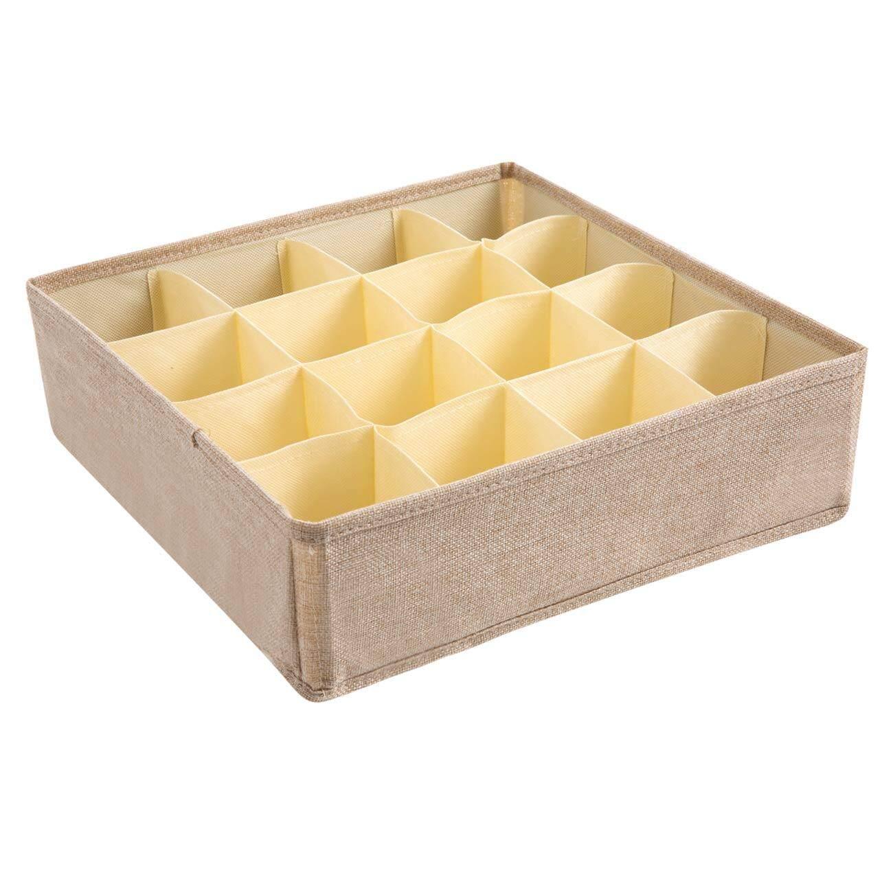 Homenhome 8 or 16 Grids Storage Box Closet Organizer For Underwear Bra  Scarfs Socks